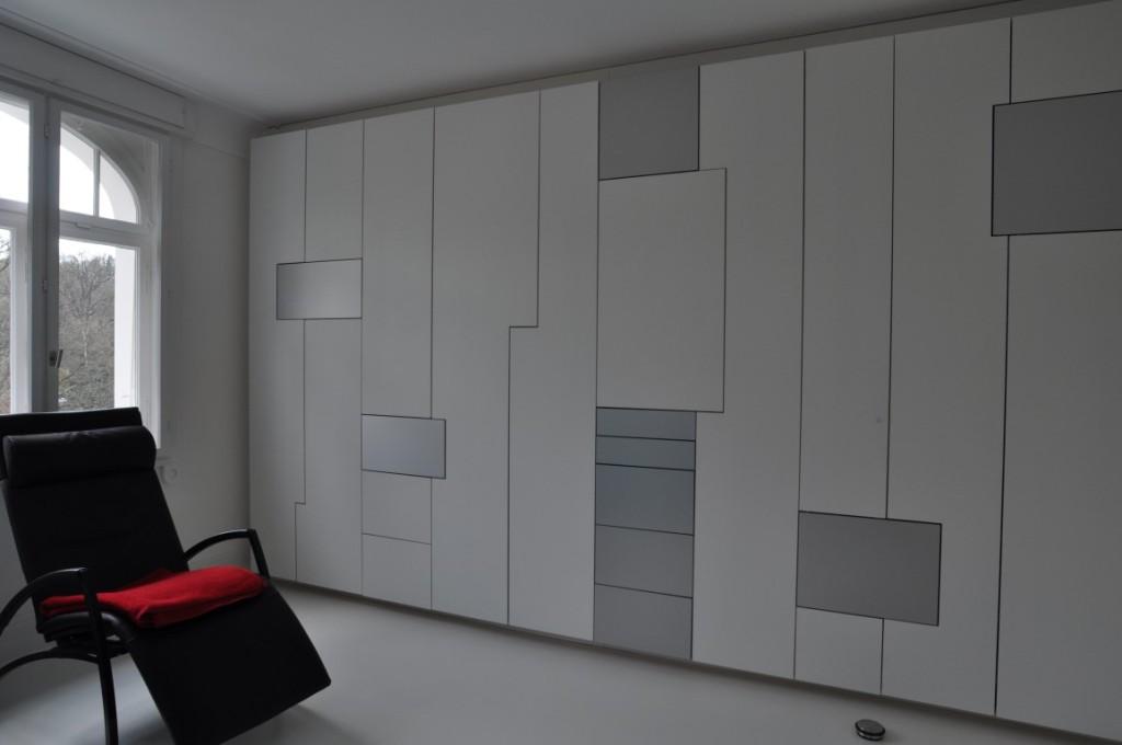 zwinz einbauschrank lack alu hpl fl chenlayout wei echt. Black Bedroom Furniture Sets. Home Design Ideas