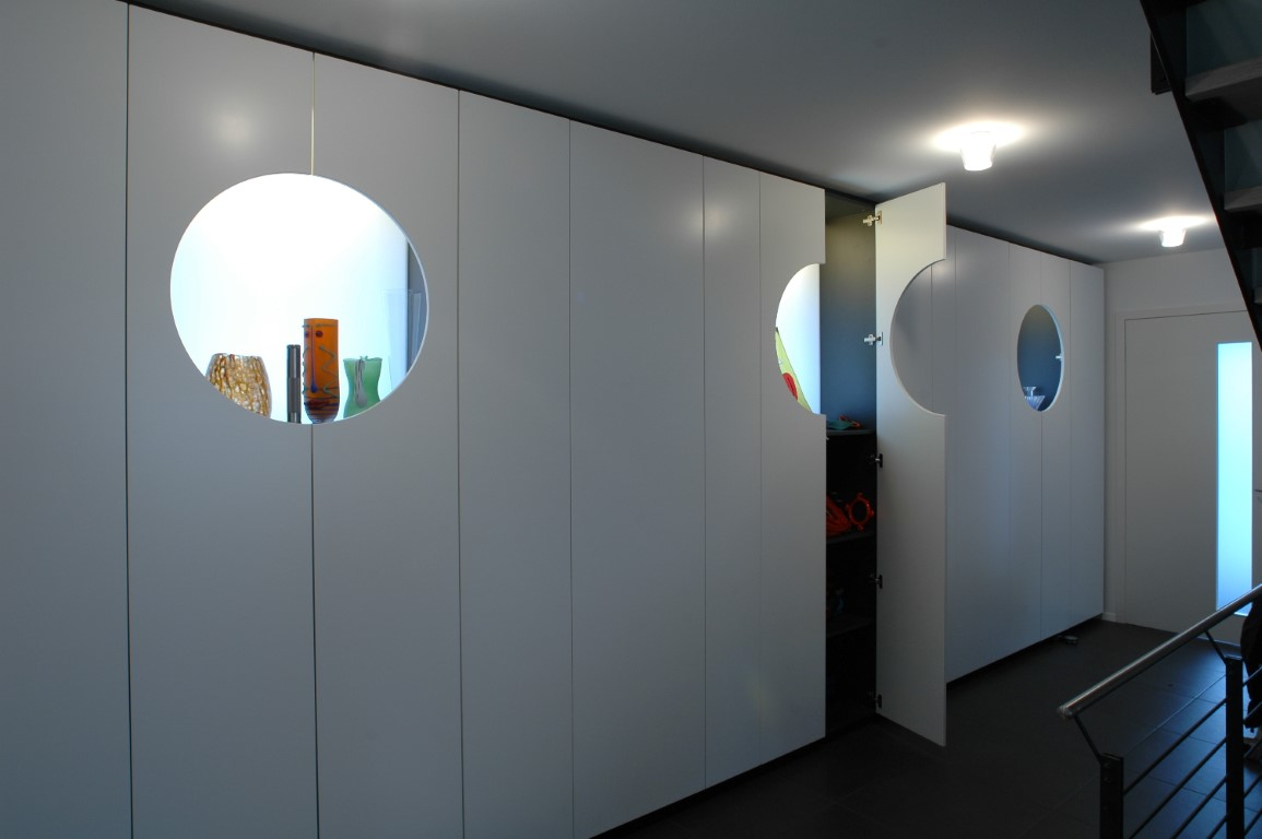 Zwinz Garderobe Eingangsbereich Einbauschrank Flachenlayout Offen