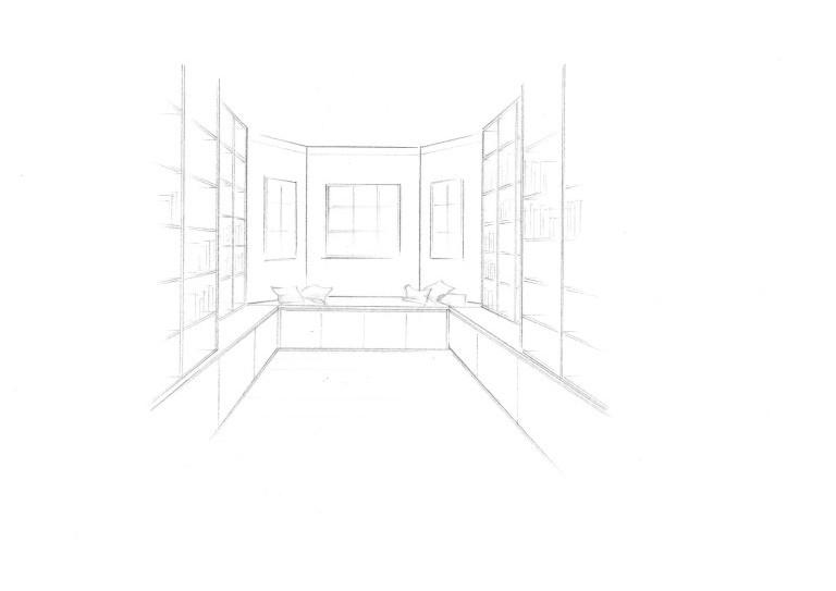 zwinz planung zeichnung bibliothek b cherregal. Black Bedroom Furniture Sets. Home Design Ideas