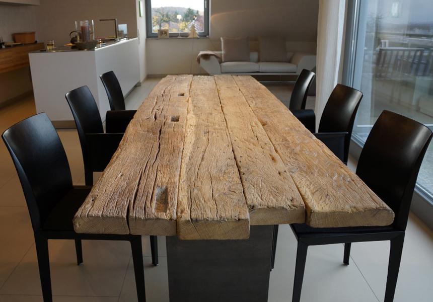 Zwinz-Tisch-Altholz-Eiche-massiv-fallende-Längen › Echt Zwinz