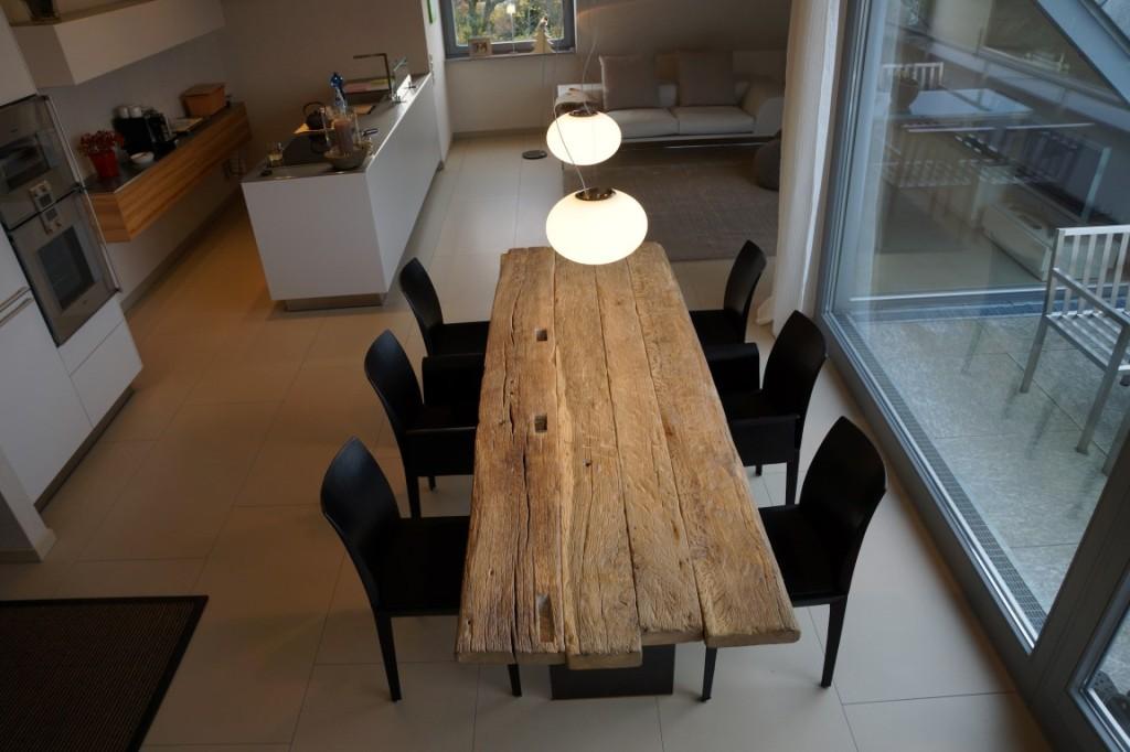 Esstisch tisch eiche massiv bassano 180x90 cm in vier for Tisch altholz