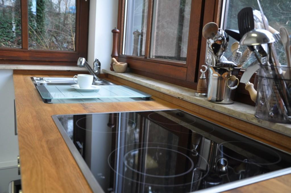 Zwinz Umbau Einrichtung Küche Arbeitsplatte Eiche massiv ...