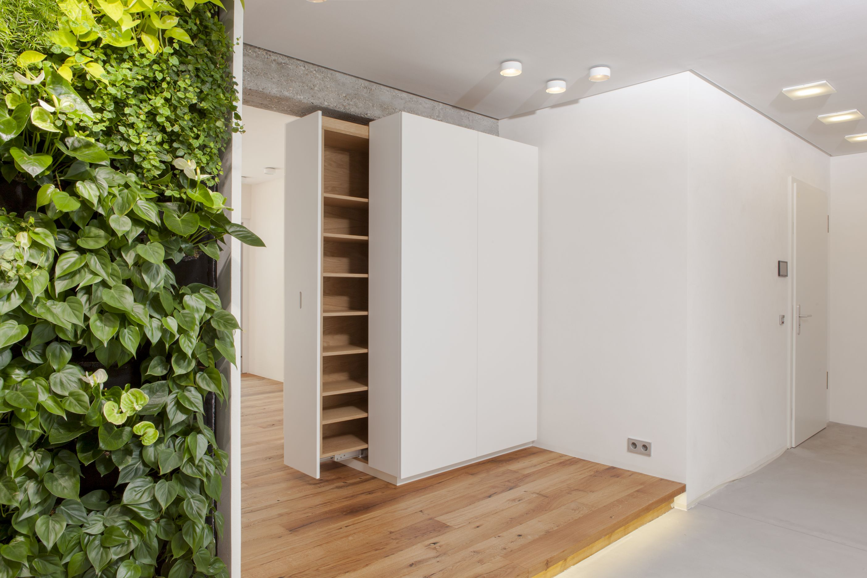 zwinz loft bewachsene wand schrank ausziehbar echt zwinz. Black Bedroom Furniture Sets. Home Design Ideas