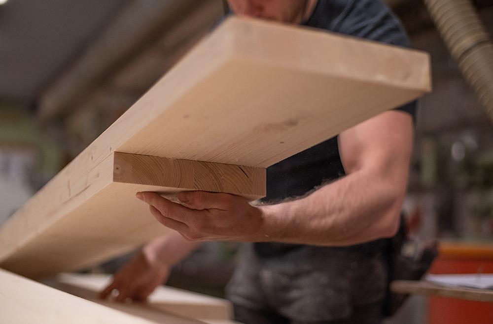 Regalbrett, Fertigung, Massivholz, Handarbeit, individuell, Zwinz