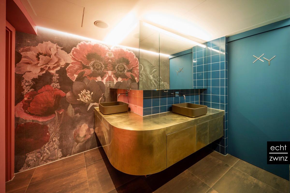 Gastronomie Messing-Waschtisch Interior Design Toilette