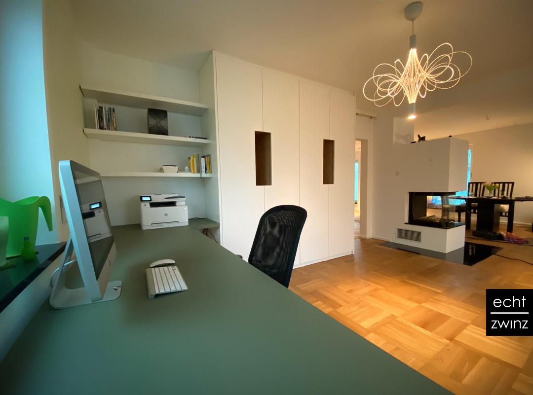 Home-Office – flexible Raumteilung im Wohn-/Arbeitszimmer