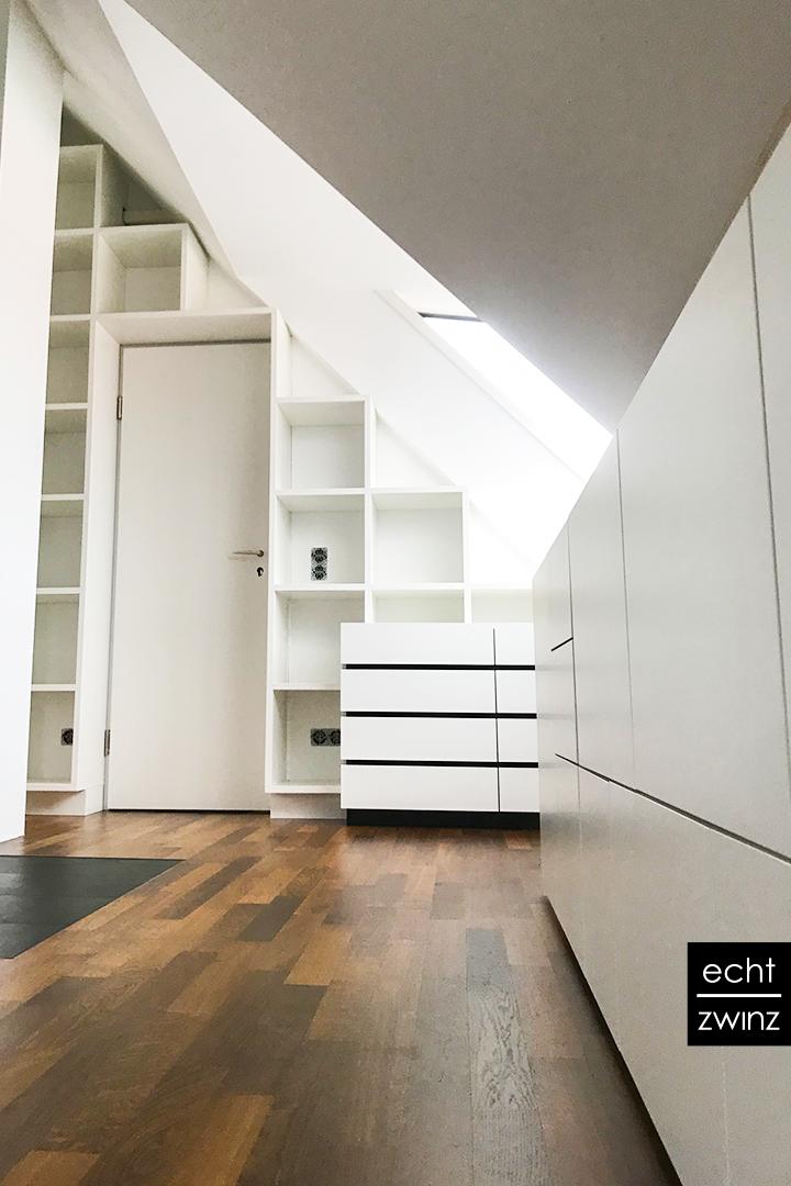 Home-Office und Bibliothek für einen Möbeldesigner