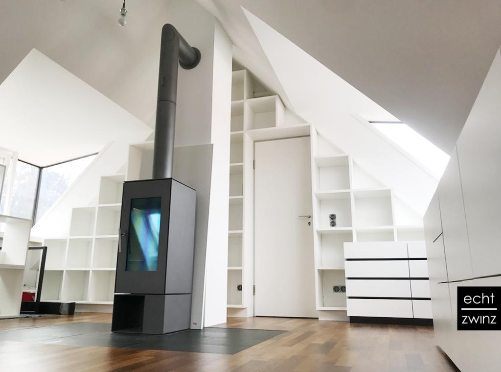 Dachstuhl mit maßgeschneiderten Designer Home-Office