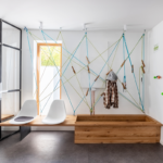 Praxis-Wartezimmer: ein Raumkonzept mit sportlich, dynamischer Einrichtung