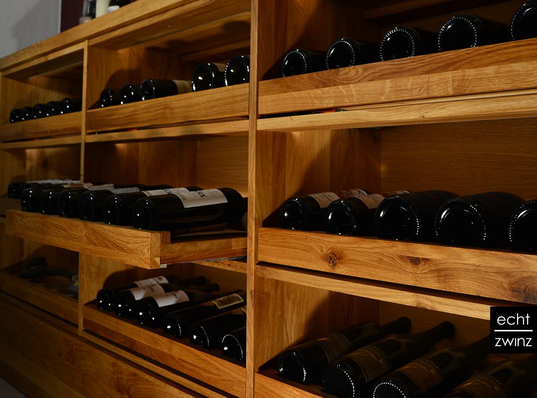ausziehbare Weinflaschenfächer